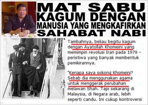 Timbalan Presiden PAS di dalam laman web dan penulisannya secara terang mengangkat Imam Syiah sebagai 'idola'nya